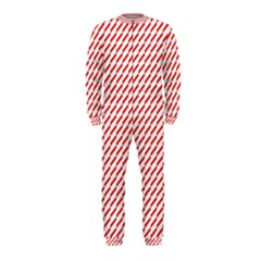 Pattern Red White Background Onepiece Jumpsuit (kids) by Simbadda