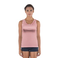 Pattern Red White Background Women s Sport Tank Top