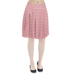 Pattern Red White Background Pleated Skirt by Simbadda