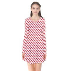 Pattern Red White Background Flare Dress by Simbadda