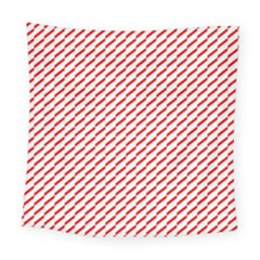 Pattern Red White Background Square Tapestry (large) by Simbadda