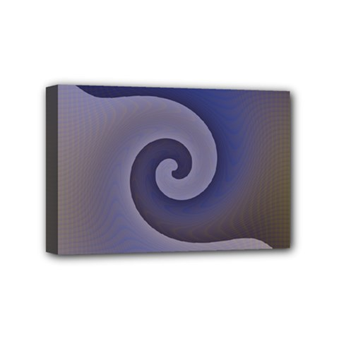 Logo Wave Design Abstract Mini Canvas 6  X 4  by Simbadda