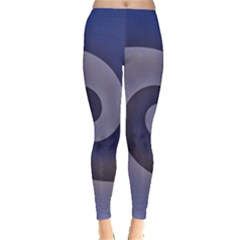 Logo Wave Design Abstract Leggings  by Simbadda