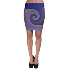 Logo Wave Design Abstract Bodycon Skirt by Simbadda