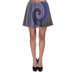 Logo Wave Design Abstract Skater Skirt by Simbadda