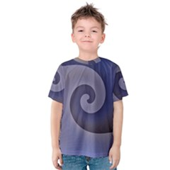 Logo Wave Design Abstract Kids  Cotton Tee by Simbadda