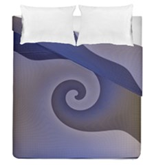 Logo Wave Design Abstract Duvet Cover Double Side (queen Size)