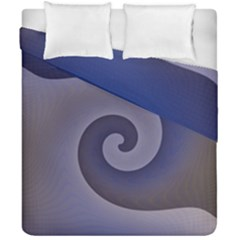 Logo Wave Design Abstract Duvet Cover Double Side (california King Size) by Simbadda