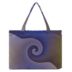 Logo Wave Design Abstract Medium Zipper Tote Bag by Simbadda