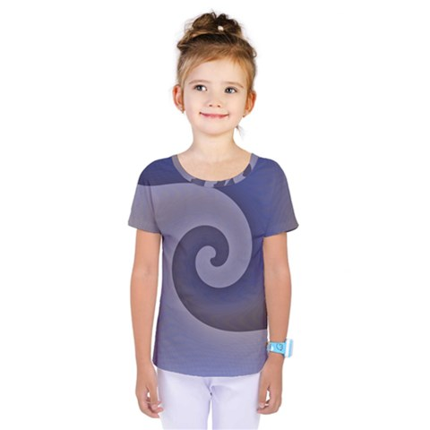 Logo Wave Design Abstract Kids  One Piece Tee by Simbadda