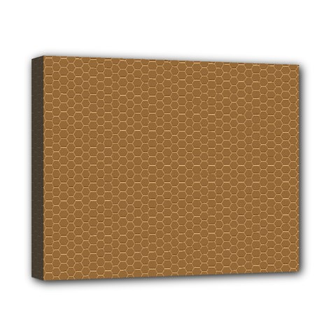 Pattern Honeycomb Pattern Brown Canvas 10  X 8