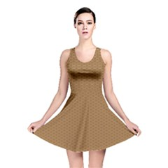 Pattern Honeycomb Pattern Brown Reversible Skater Dress by Simbadda