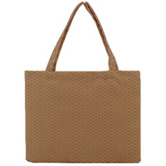 Pattern Honeycomb Pattern Brown Mini Tote Bag by Simbadda