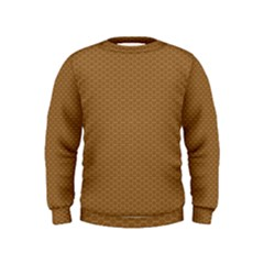 Pattern Honeycomb Pattern Brown Kids  Sweatshirt by Simbadda