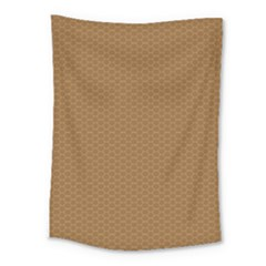 Pattern Honeycomb Pattern Brown Medium Tapestry by Simbadda
