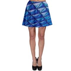 Lines Geometry Architecture Texture Skater Skirt by Simbadda