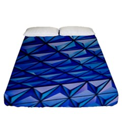 Lines Geometry Architecture Texture Fitted Sheet (queen Size) by Simbadda