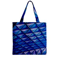 Lines Geometry Architecture Texture Zipper Grocery Tote Bag by Simbadda