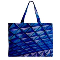 Lines Geometry Architecture Texture Zipper Mini Tote Bag by Simbadda