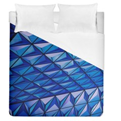 Lines Geometry Architecture Texture Duvet Cover (queen Size) by Simbadda