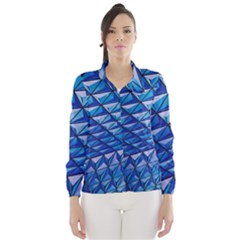 Lines Geometry Architecture Texture Wind Breaker (women) by Simbadda