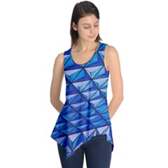Lines Geometry Architecture Texture Sleeveless Tunic by Simbadda