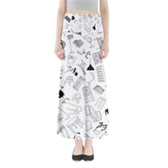 Furniture Black Decor Pattern Maxi Skirts by Simbadda