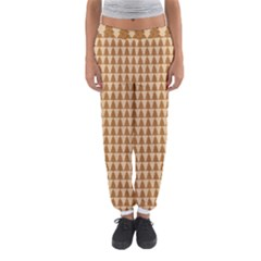 Pattern Gingerbread Brown Women s Jogger Sweatpants by Simbadda