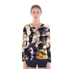 Canvas Acrylic Digital Design Women s Long Sleeve Tee