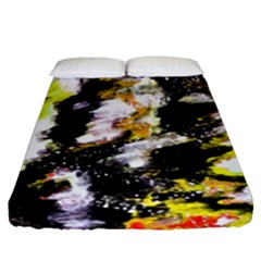 Canvas Acrylic Digital Design Fitted Sheet (queen Size) by Simbadda