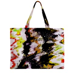 Canvas Acrylic Digital Design Zipper Mini Tote Bag by Simbadda