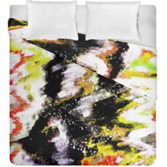 Canvas Acrylic Digital Design Duvet Cover Double Side (king Size)