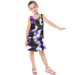 Canvas Acrylic Digital Design Kids  Sleeveless Dress