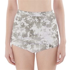 Wall Rock Pattern Structure Dirty High-waisted Bikini Bottoms