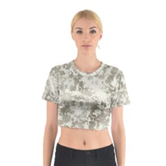 Wall Rock Pattern Structure Dirty Cotton Crop Top