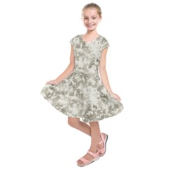 Wall Rock Pattern Structure Dirty Kids  Short Sleeve Dress by Simbadda