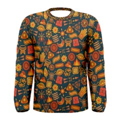Pattern Background Ethnic Tribal Men s Long Sleeve Tee by Simbadda
