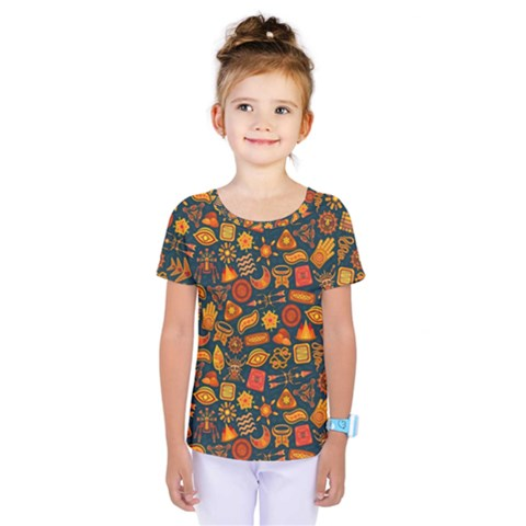 Pattern Background Ethnic Tribal Kids  One Piece Tee by Simbadda