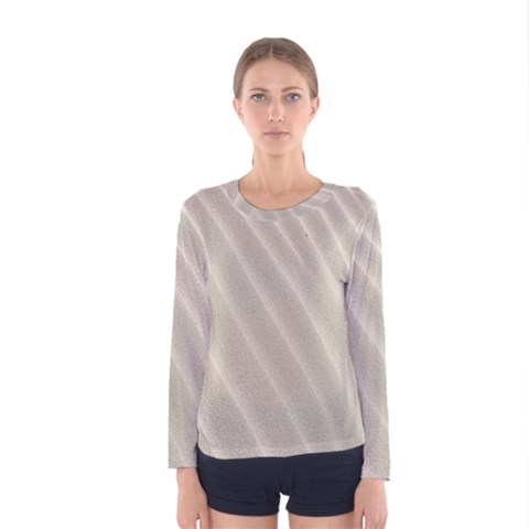 Sand Pattern Wave Texture Women s Long Sleeve Tee by Simbadda