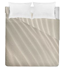 Sand Pattern Wave Texture Duvet Cover Double Side (queen Size) by Simbadda