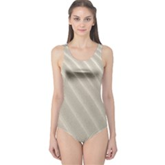 Sand Pattern Wave Texture One Piece Swimsuit by Simbadda