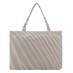 Sand Pattern Wave Texture Medium Tote Bag by Simbadda