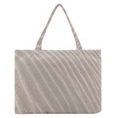 Sand Pattern Wave Texture Medium Zipper Tote Bag by Simbadda