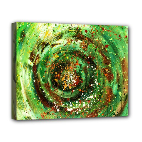 Canvas Acrylic Design Color Deluxe Canvas 20  X 16   by Simbadda