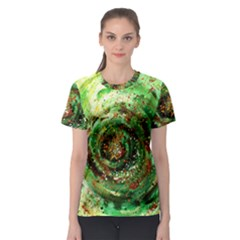 Canvas Acrylic Design Color Women s Sport Mesh Tee by Simbadda