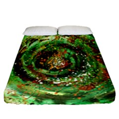 Canvas Acrylic Design Color Fitted Sheet (queen Size) by Simbadda