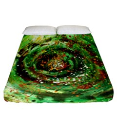 Canvas Acrylic Design Color Fitted Sheet (california King Size) by Simbadda
