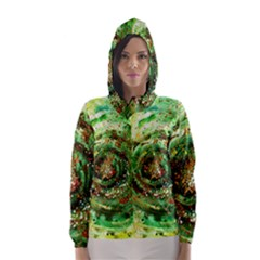 Canvas Acrylic Design Color Hooded Wind Breaker (women) by Simbadda