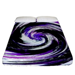 Canvas Acrylic Digital Design Fitted Sheet (king Size) by Simbadda