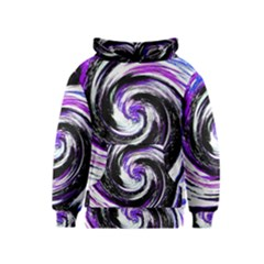 Canvas Acrylic Digital Design Kids  Pullover Hoodie by Simbadda